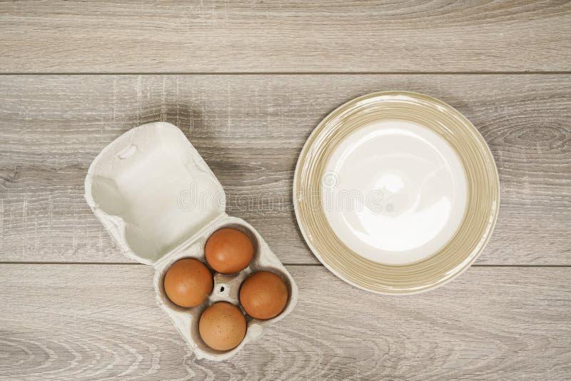 Vier Eieren royalty-vrije stock afbeelding