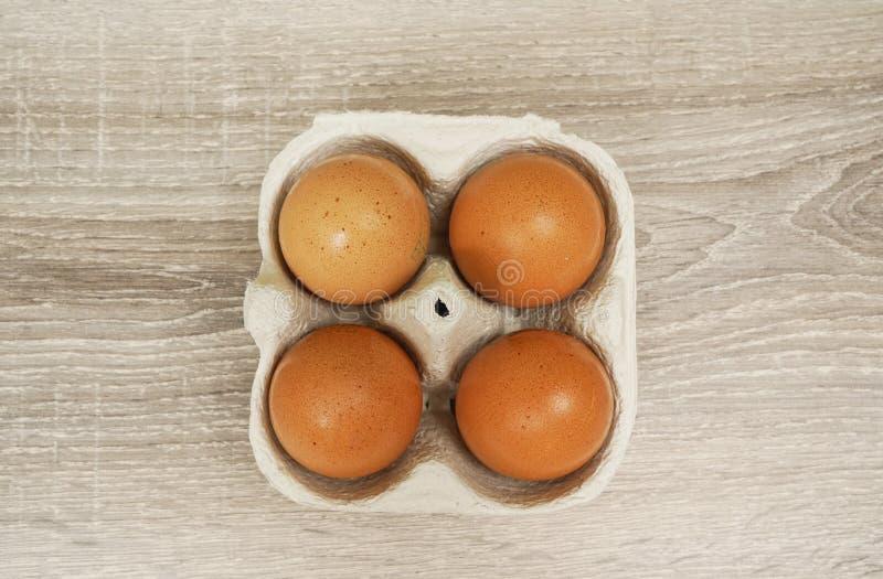Vier Eieren stock afbeelding