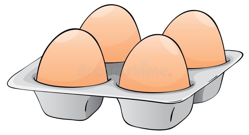 Vier eieren stock illustratie