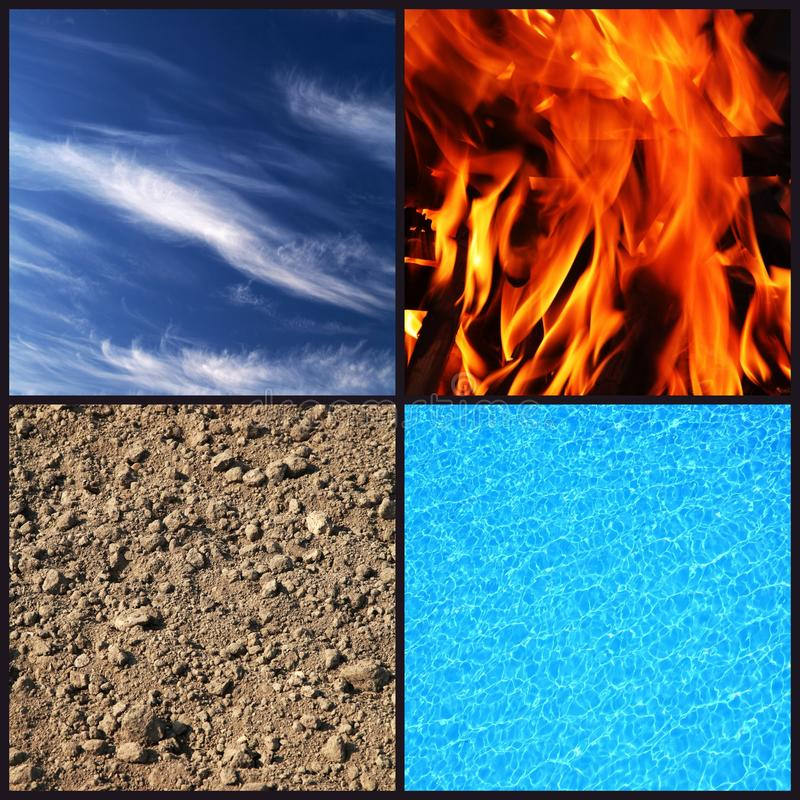 Vier elementen royalty-vrije stock foto