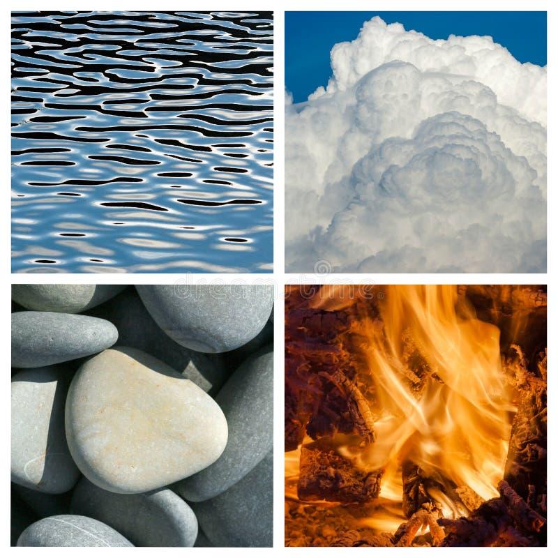 Vier elementen stock afbeelding