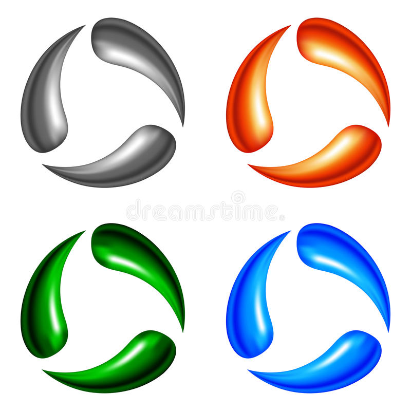 Vier embleemelementen vector illustratie