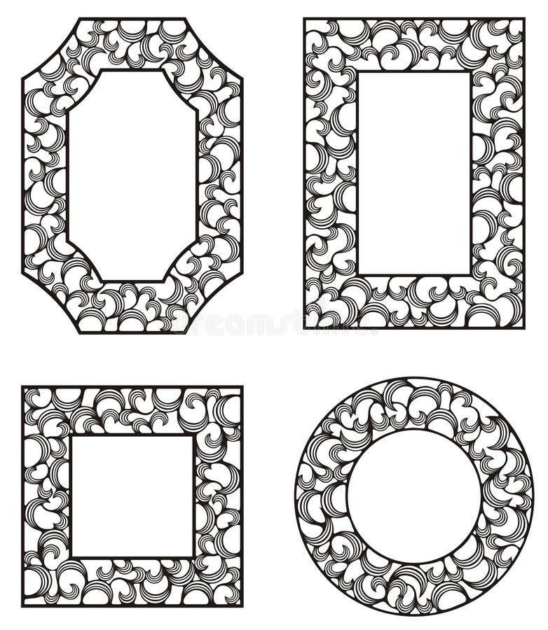Vier frames stock illustratie