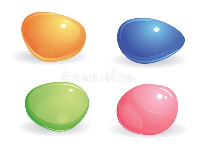 Vier gekleurde gemmen