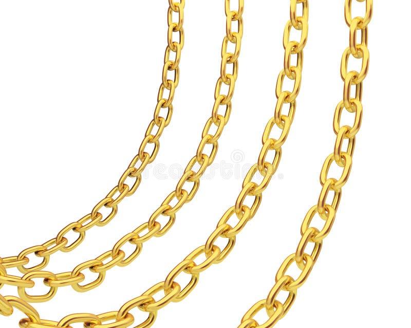 Vier Goldketten vektor abbildung