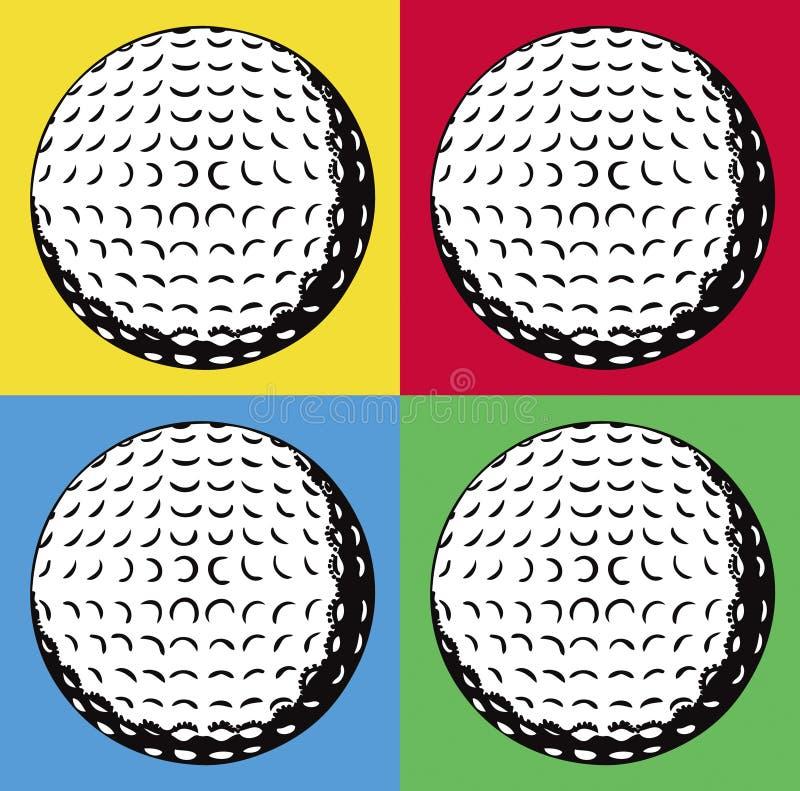 Vier golfballen royalty-vrije illustratie