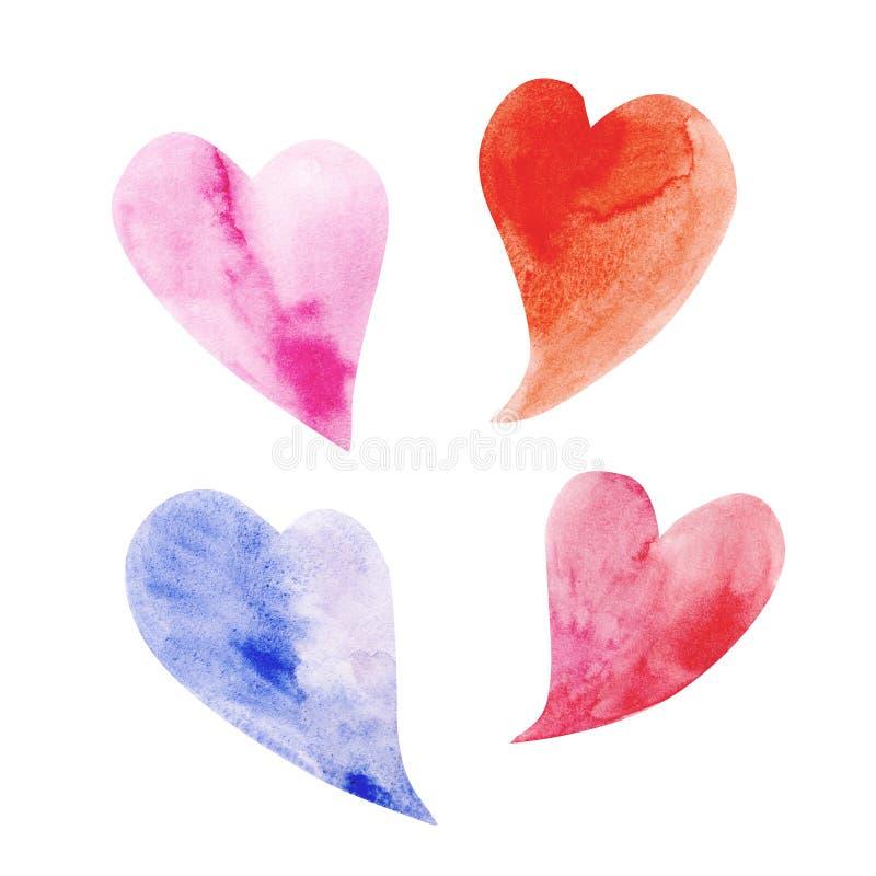 Download Vier hartsymbool vector illustratie. Illustratie bestaande uit document - 54090346