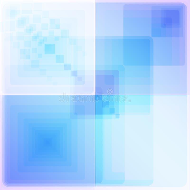 Vier heldere witte en blauwe geometrische patronen vector illustratie