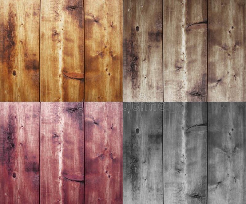 Vier houten achtergronden stock foto
