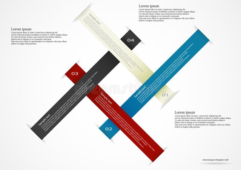 Vier infographic lintenillustratie royalty-vrije illustratie