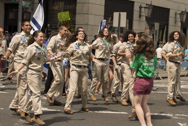 2015 vier Israel Parade in de Stad van New York stock fotografie