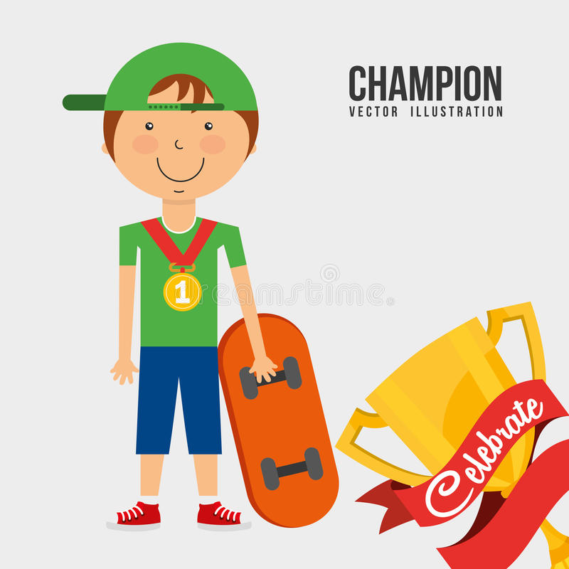 Vier kampioen vector illustratie