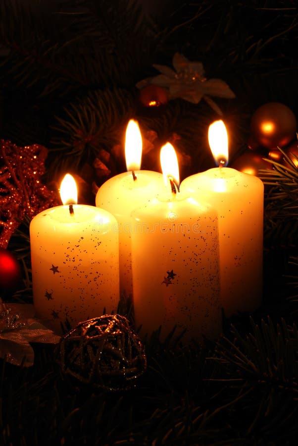 Vier Kerze lizenzfreies stockfoto