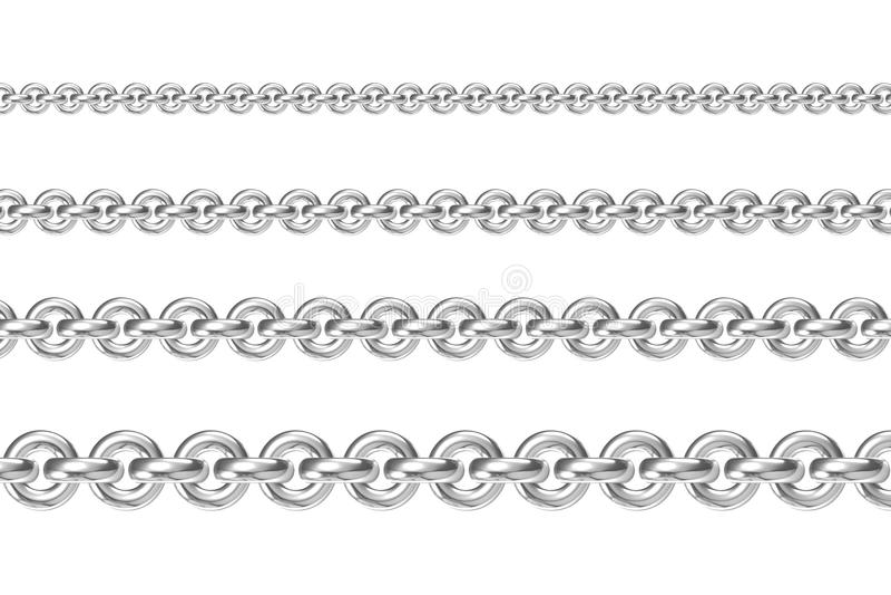 Download Vier Ketten Zueinander Parallel Stockbild - Bild von zeile, gerade: 26362533