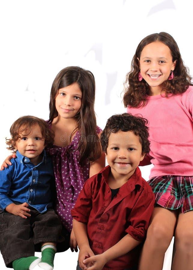 Vier kinderen royalty-vrije stock afbeeldingen
