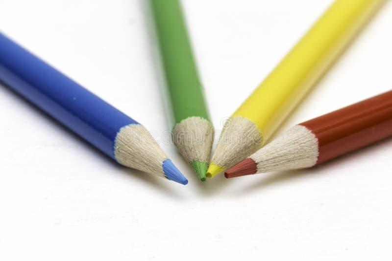 Vier kleuren royalty-vrije stock afbeeldingen