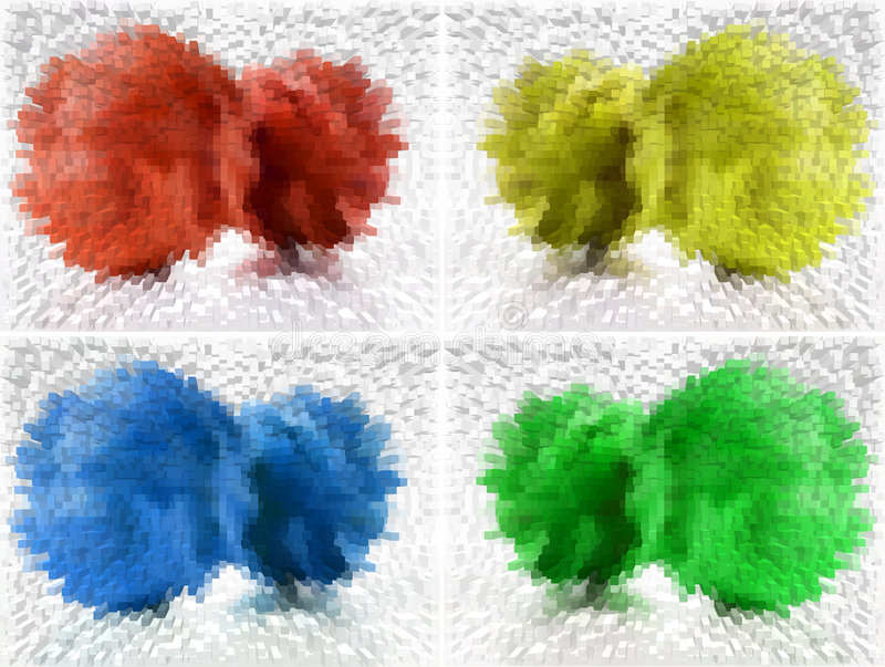 Vier kleuren vatten achtergrond samen stock illustratie