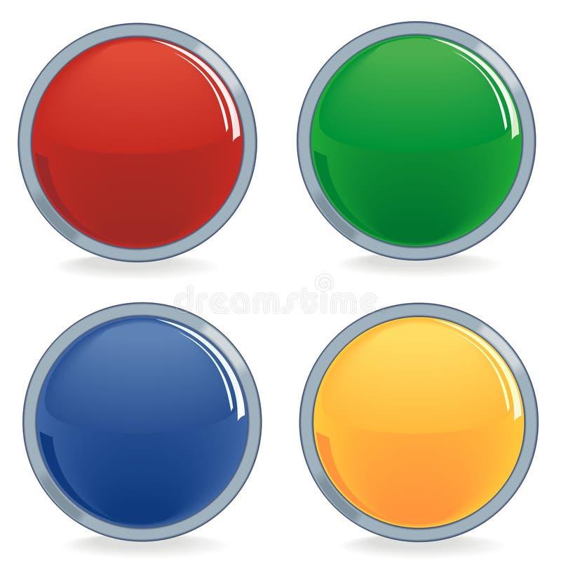 Vier kleurenknopen royalty-vrije illustratie
