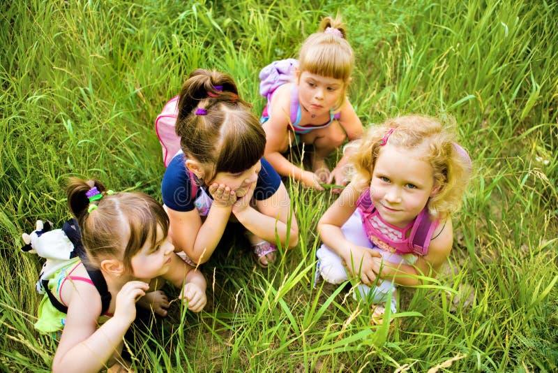 Vier Mädchen stockfoto