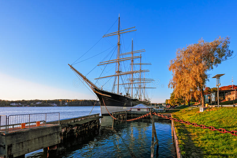 Vier-Masted winjammer stock foto's
