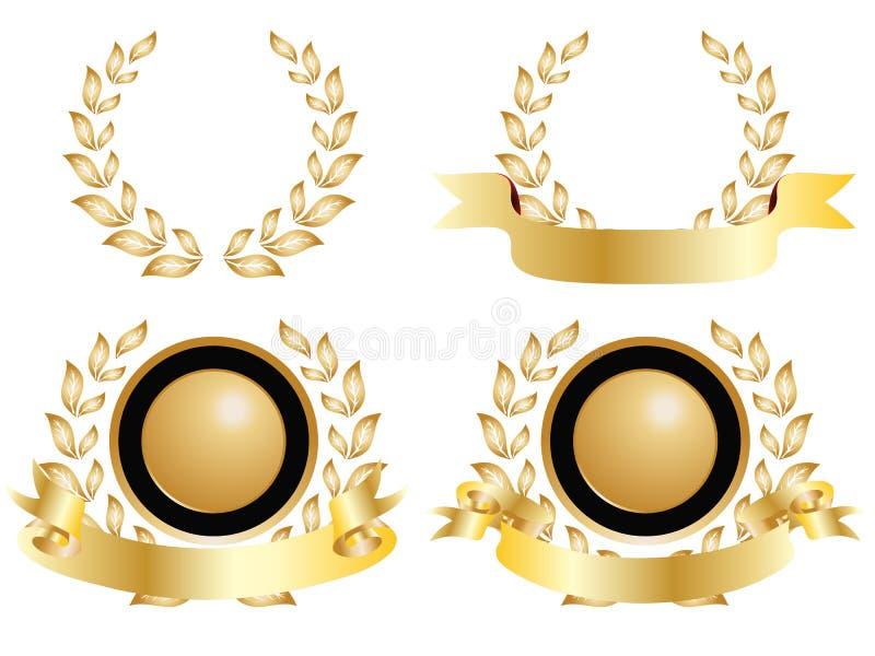 Vier Medaillen Ausführung lizenzfreie abbildung