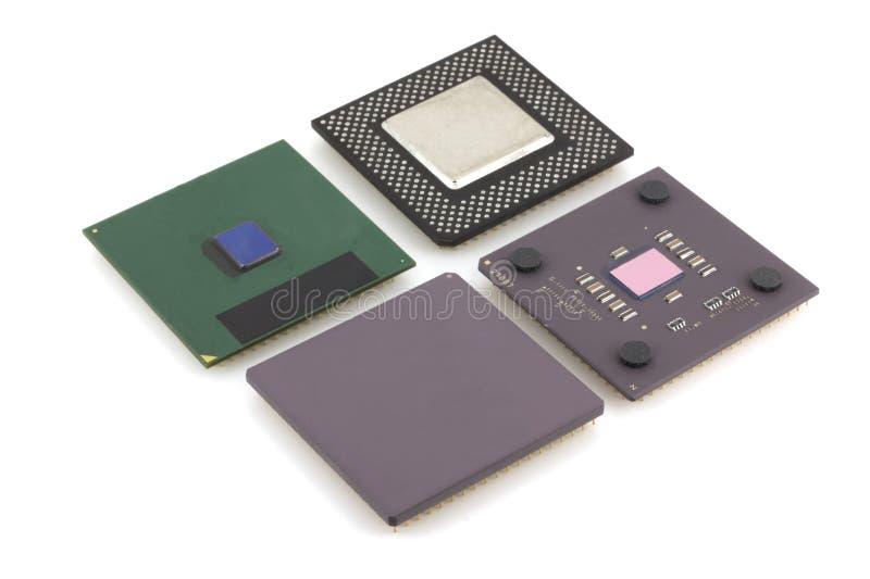 Vier Mikroprozessoren lizenzfreie stockfotos
