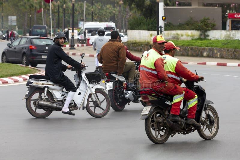 Vier motorrijders royalty-vrije stock afbeelding