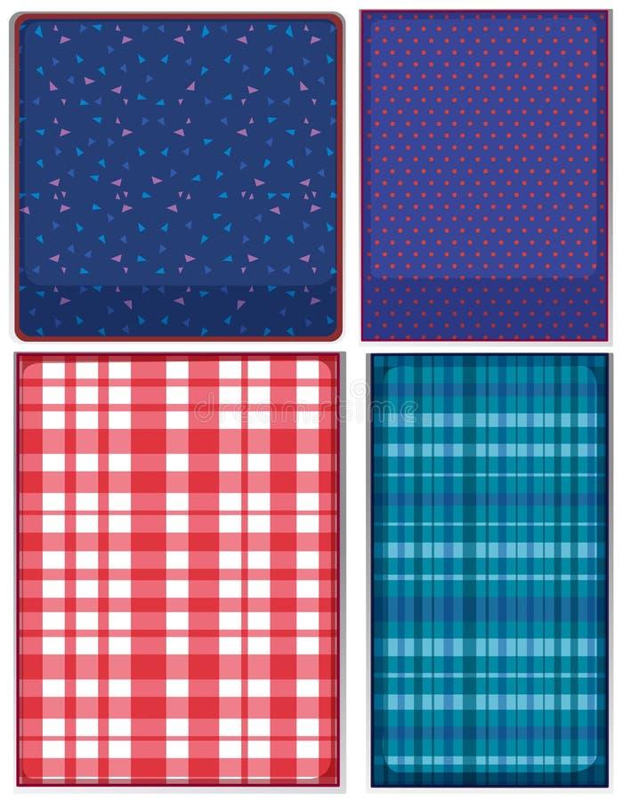 Vier Muster Kleidung vektor abbildung