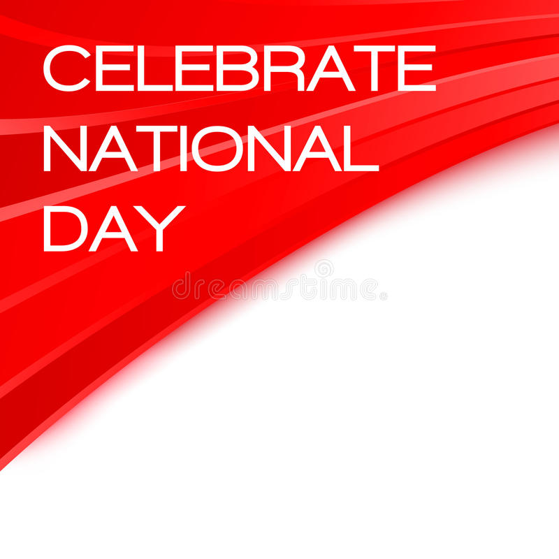 Vier Nationale dag Chinese affiche vector illustratie