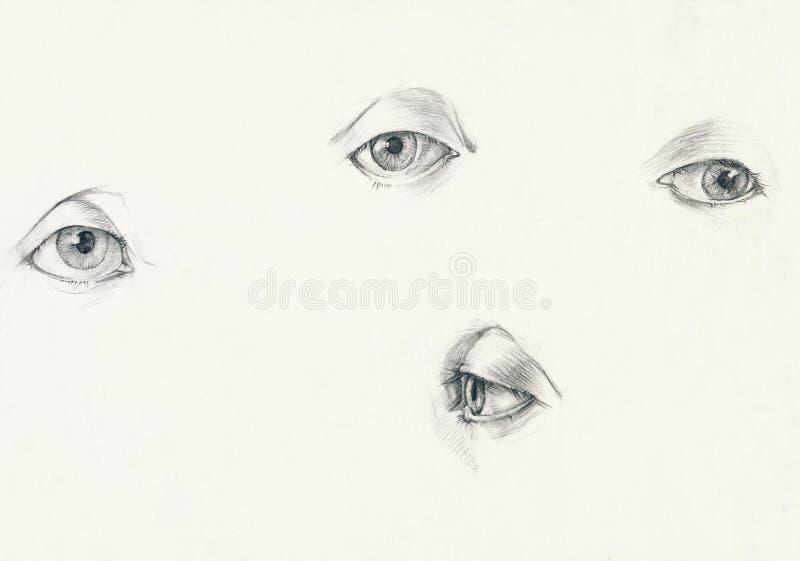 Vier ogen vector illustratie