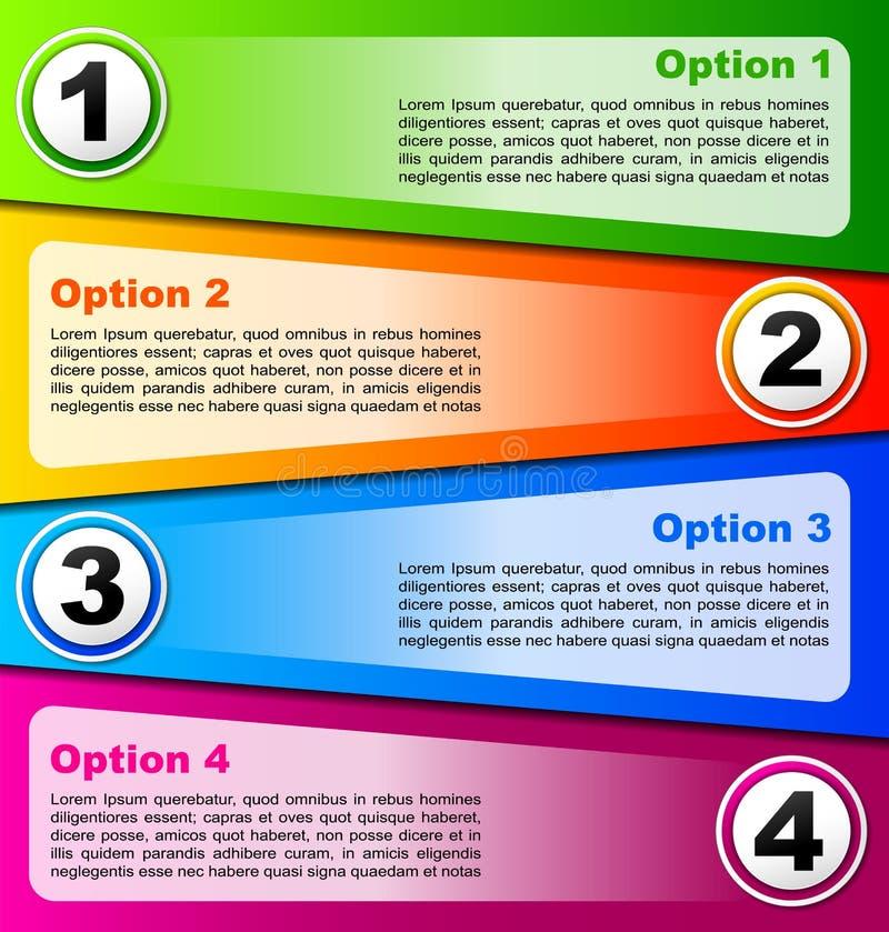 Vier optiesachtergrond vector illustratie
