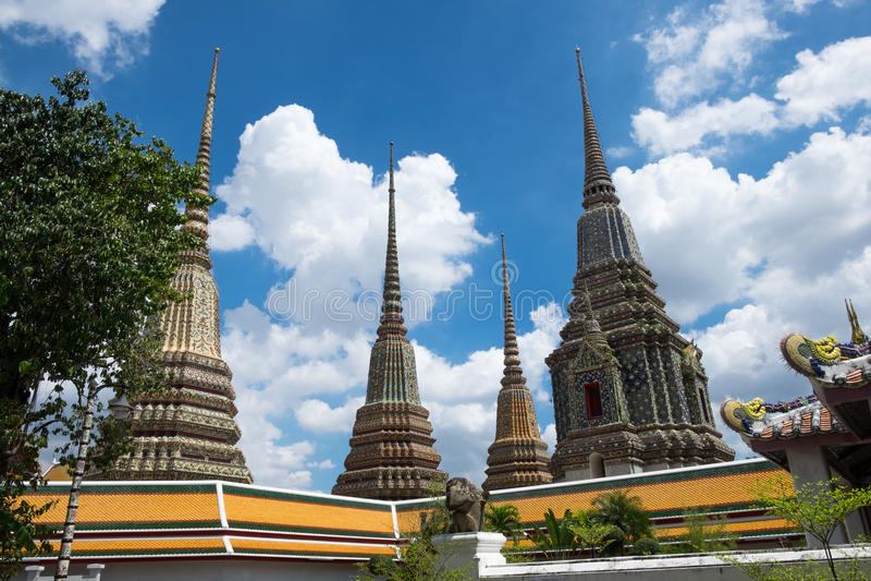 Vier pagode wat pho royalty-vrije stock afbeelding
