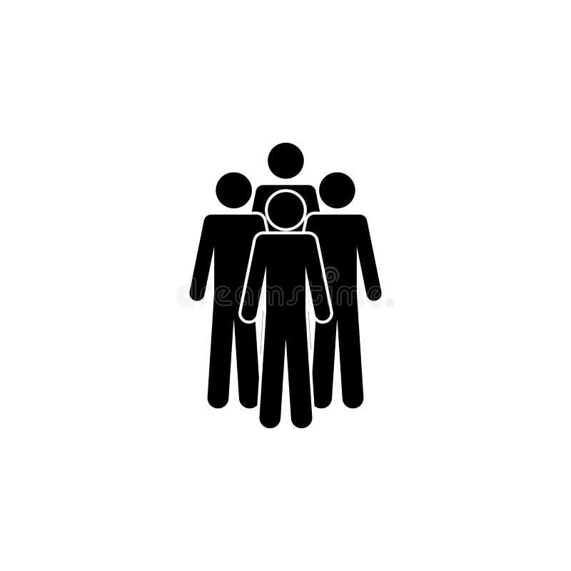Vier Personen, ein Gruppensymbol. Einfache Glyphe, flacher Vektor von People Icons für UI und UX, Website oder mobile Anwendung stock abbildung