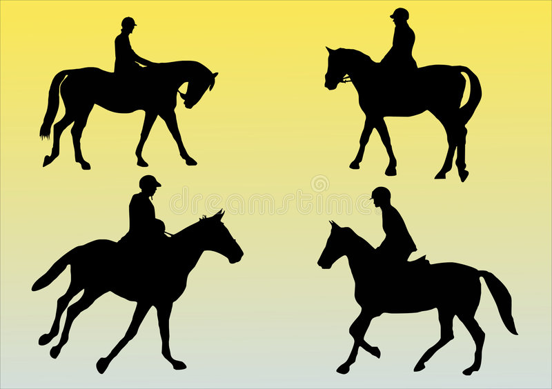 Vier Pferde vektor abbildung