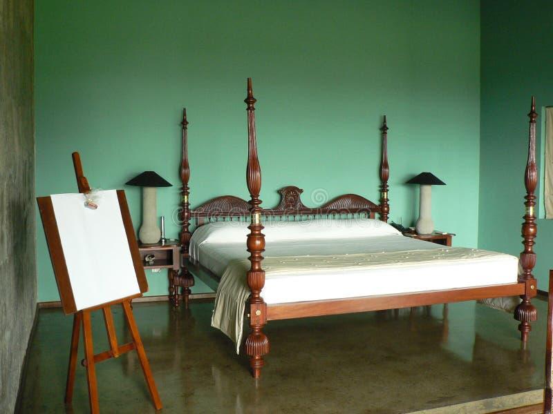 Vier Pfosten-Bett lizenzfreie stockfotos