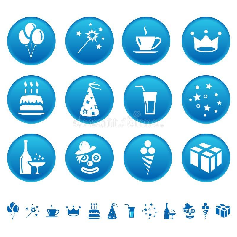 Vier pictogrammen stock illustratie