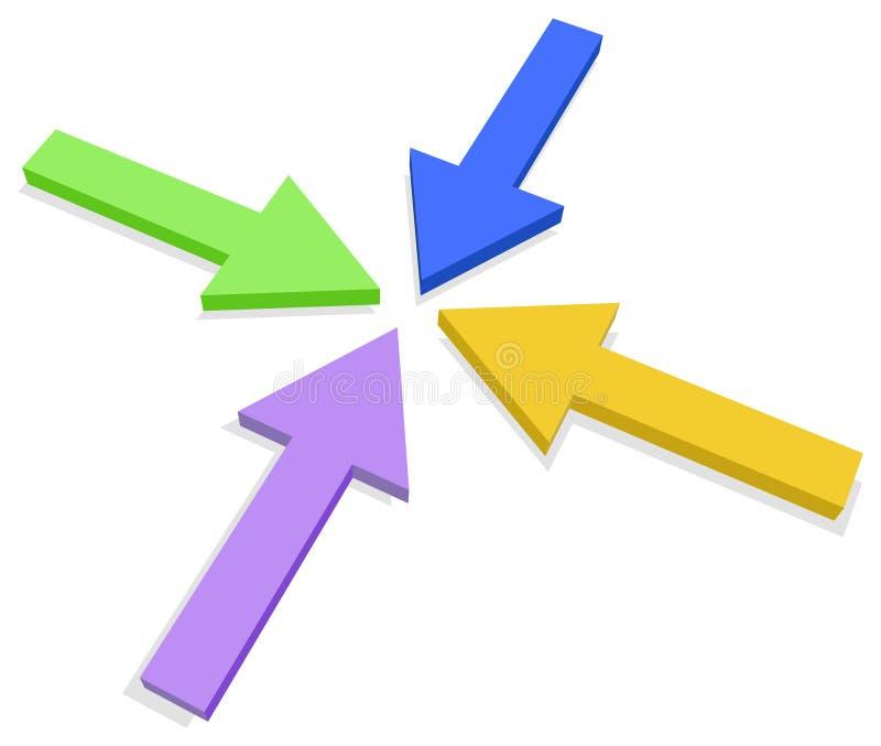 Vier pijlen vector illustratie
