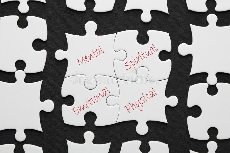 Vier Pijlers van Succes stock afbeeldingen