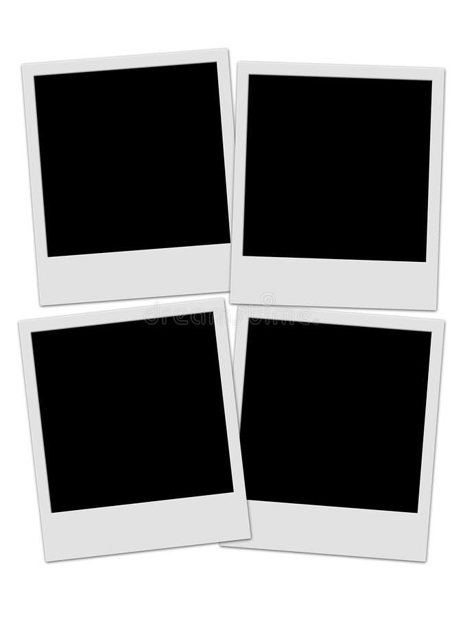 Vier polaroids stock illustratie