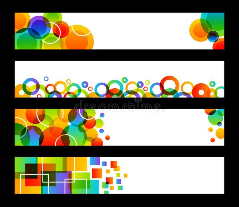 Vier Regenbogen-Fahnen vektor abbildung