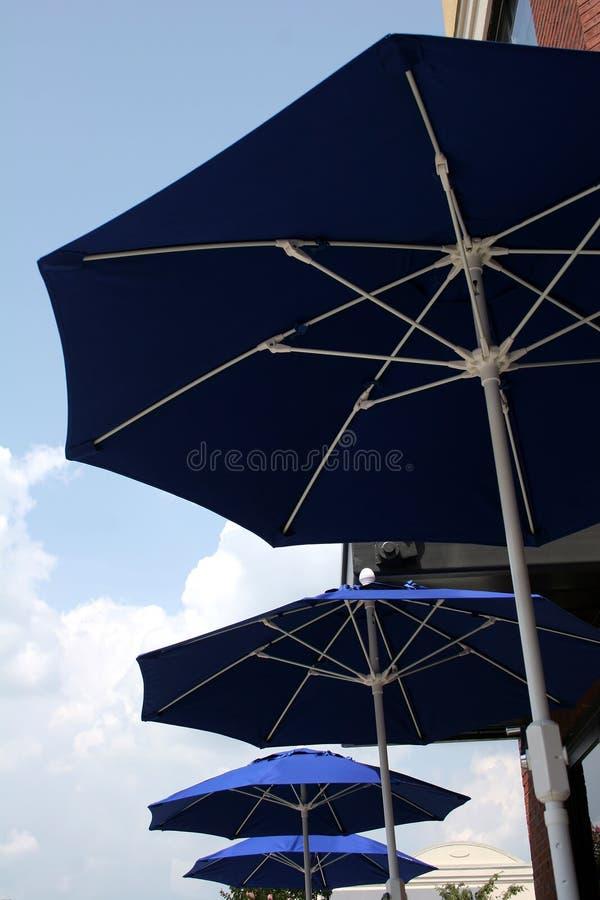 Vier Regenschirme stockbild