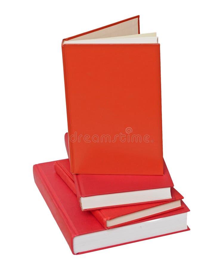 Download Vier rode boeken stock foto. Afbeelding bestaande uit voorwerpen - 29511544