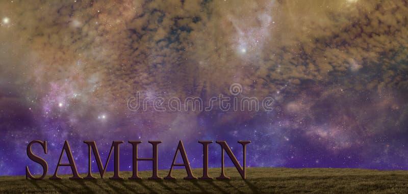 Vier Samhain-de achtergrond van het de zomerseind stock fotografie