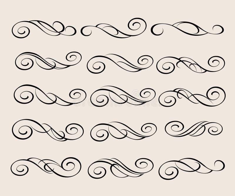 Vier Schneeflocken auf weißem Hintergrund Dekorative Abbildung Vektor Schwarze Beige stock abbildung