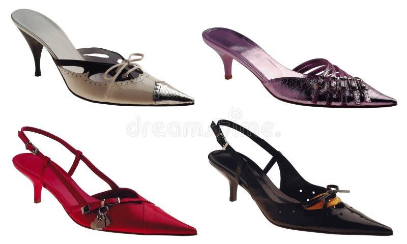 Vier Schoenen royalty-vrije stock afbeeldingen