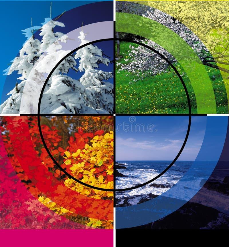 Vier seizoenen stock fotografie
