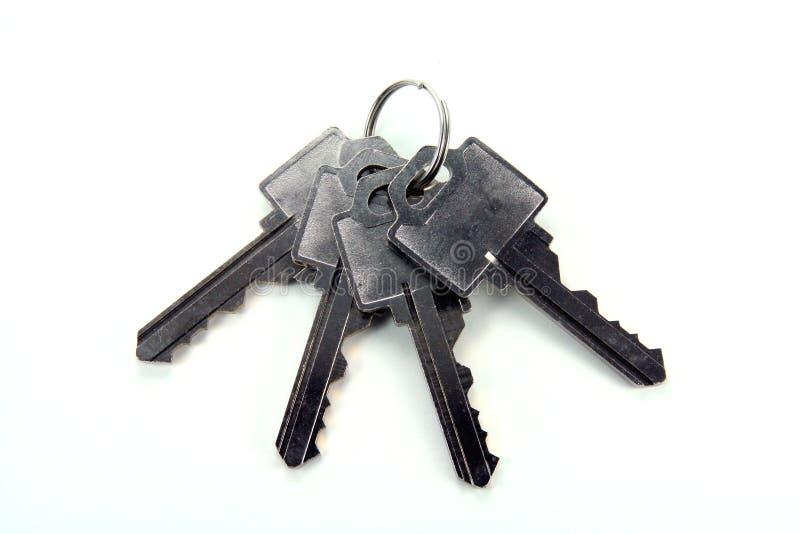Vier sleutels royalty-vrije stock afbeelding