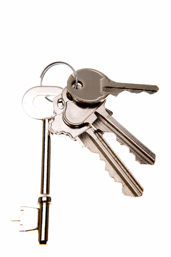 Vier sleutels stock foto