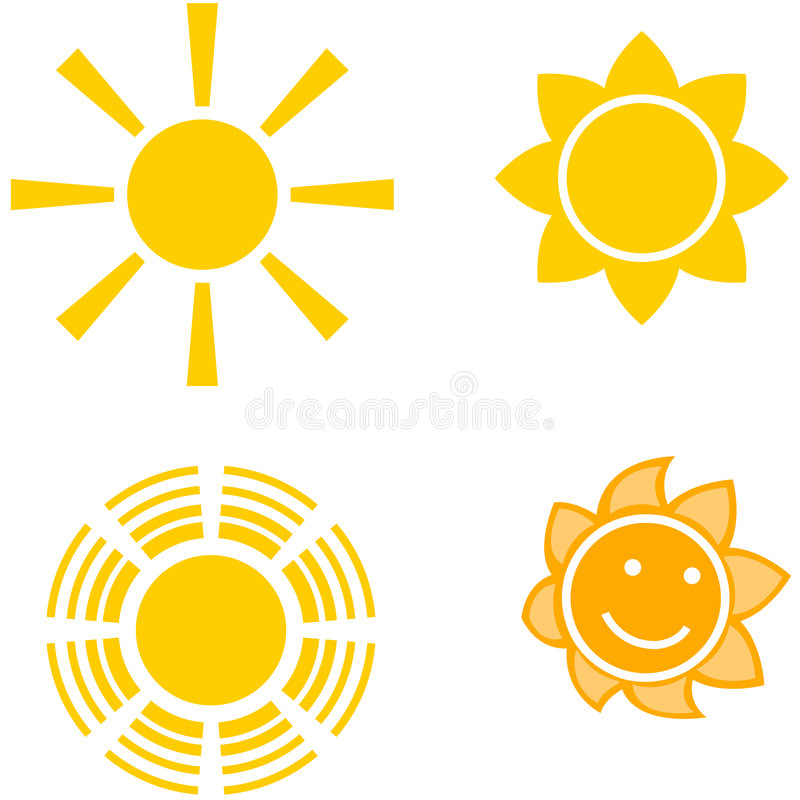 Vier Sonnen lizenzfreie abbildung