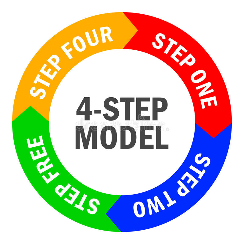 Vier-stap diagram stock illustratie
